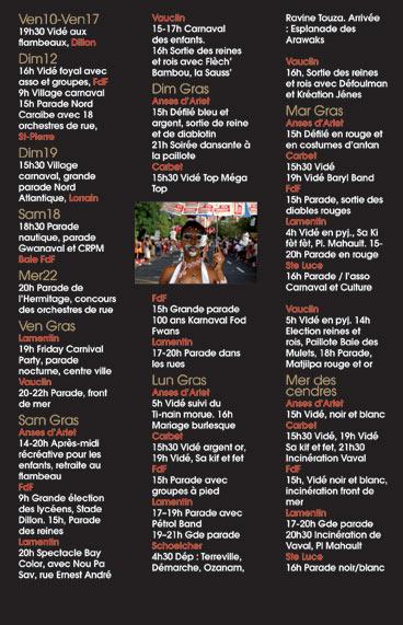 Programme du Carnaval 2006