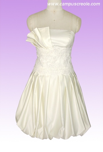 Robe courte blanche 2010 Leeloo